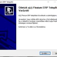Installer üdvözlő képernyő